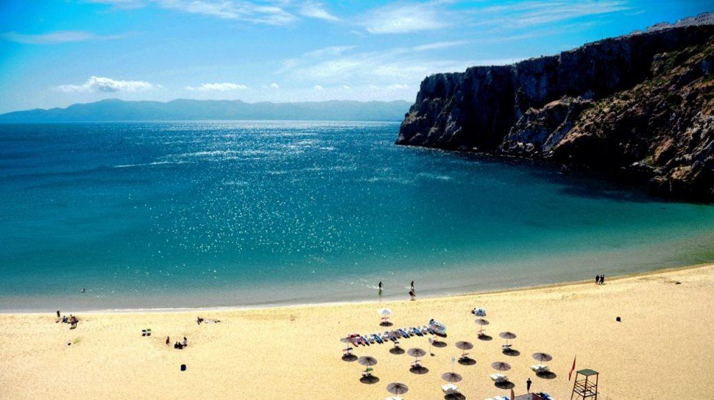 Morocco Mediterranean Beach. Quemado beach at al Hoceima mind-blowing Beauty
