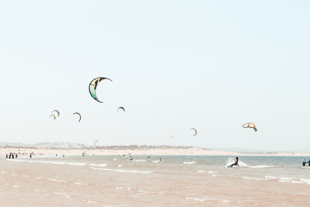 Morocco Mediterranean Beach kitesurfing in Dakhla
