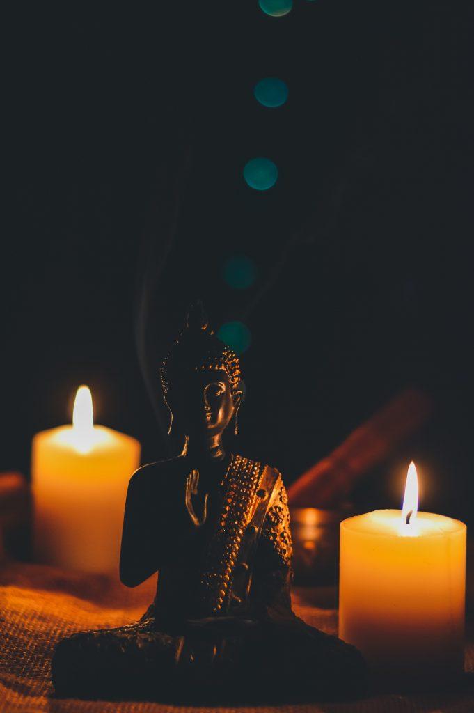 Blue Door Buddha Pray Tanger maroc
